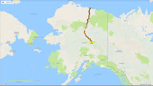 Alaska Highway Map by Tails From The Highway July 2017
