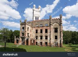 Small Castle by Ruins State Castle Cesky Rudolec Castle Stock Photo 473805250