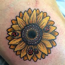 sunflower with ladybugs by pouliot at twisted
