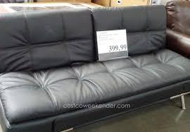 futon belle faux leather convertible futon sofa bed white