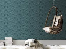 chambre peinte en bleu papier peint chambre papiers peints wallpaper