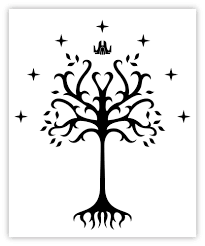 lord of the rings vinyl sticker decal 3 sizes king of gondor flag