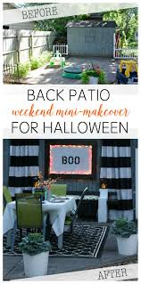 mini backyard makeover u0026 halloween dinner party view from the
