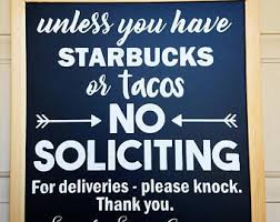 funny no soliciting etsy
