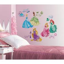 kids art wall decals murals decor the home depot disney princess royal debut peel and stick piece wall decals