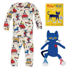 pete the cat gift set pajamas book and plush at signals ht4342