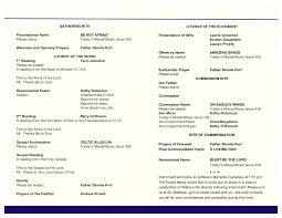 wedding mass program template template catholic wedding program template funeral mass free