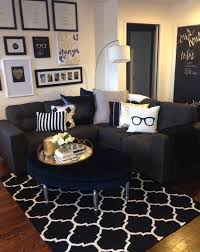 Cute Living Room Ideas by Mini Living Room Re Do Classic Black White And Gold With Pops