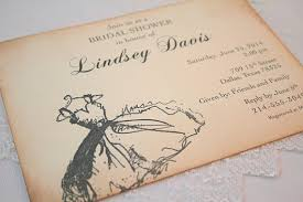 vintage bridal shower invitations bridal invitations wedding shower invites vintage dress in black