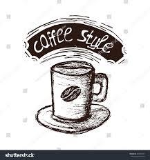 espresso coffee clipart hand drawn coffee espresso vector illustration stock vector