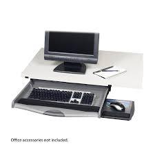 ergo comfort premium underdesk keyboard drawer safco products