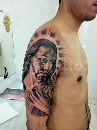 half sleeve christ jesus tattoo for men tattoos book 65 000