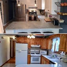 Before And After Kitchen Remodels by Kitchen Before And After Kitchen Remodel Adirondack Blue Behr