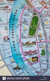 bangkok map tourist attractions thailand bangkok map of tourist attraction stock photo