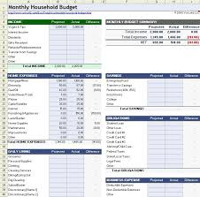 Excel Budget Spreadsheet Templates Sle Household Budget Monthly Household Budget Spreadsheet