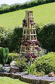 small plant supports climbing plant trellis pyramid wooden plant support