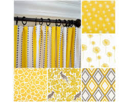 yellow curtains etsy