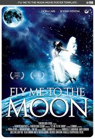 fly me to the moon movie poster templat design bundles