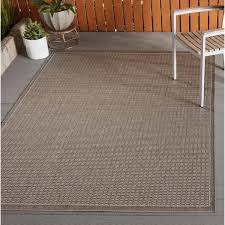 Couristan Outdoor Rugs Couristan Recife Saddle Stitch Chagne Taupe Indoor Outdoor Rug