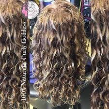 naturally curly balayage highlights blond hair by carleen sanchez