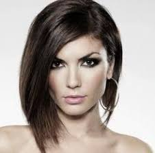 medium haircuts one side longer than the other this picture uses asymmetrical balance by having one side longer