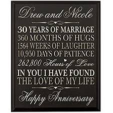 30th anniversary gift personalized 30th wedding anniversary gift for