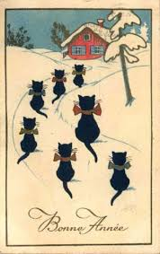668 christmas cats vintage images