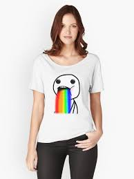Drooling Rainbow Meme - rainbow drool women s relaxed fit t shirt by giii redbubble