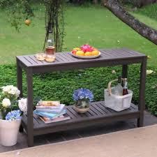 outdoor console table outdoor console table buffet patio garden wood gray sideboard