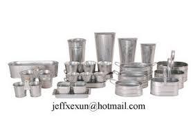 Tin Flower Vases Flower Pots Zinc Flower Bucket Vases Manufacturer From China