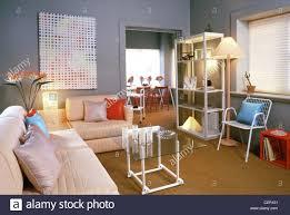 Corner Sofa Living Room Living Room Grey Painted Walls Padded Corner Sofa Scattered