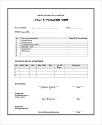 sample leave form sample leave request form 8 examples in word