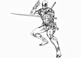 deadpool coloring pages getcoloringpages