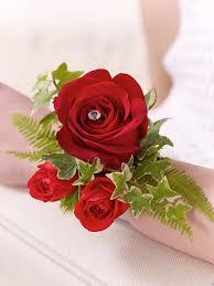 Red Rose Corsage Red Rose U0026 Fern Wrist Corsage Debs Corsages U0026 Flowers