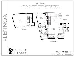 Lenox Floor Plan Lennox Central Park West Irvine Condominium Listings