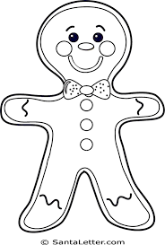 gingerbread man coloring pages santaletter