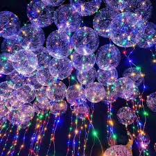 decoration lights for party 20 luminous led balloons round bubble helium balloons string lights