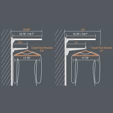 surprising inspiration closet rod installation closet u0026 wadrobe