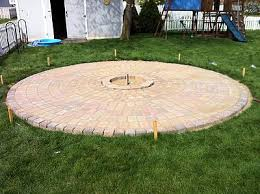 Simple Brick Patio With Circle Paver Kit Patio Designs And Ideas by How To Build A Patio And Fire Pit With Easy Instructions And Step