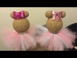 Centerpieces For Minnie Mouse Party by Diy Dollar Tree Minnie Mouse Centerpiece Youtube Centerpieces