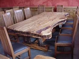 modern rustic log kitchen tables with leather cushion chair design