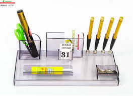 rasper sps2112 office table top acrylic pen stand with card holder