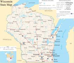Maps De Usa by Wisconsin State Map A Large Detailed Map Of Wisconsin State Usa