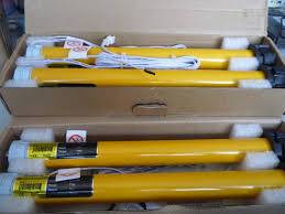 yellow electric roller blind 1 5m motorised exterior blind