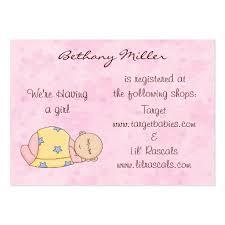 baby gift registry baby registry business card templates page2 bizcardstudio