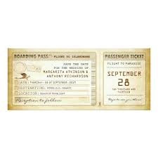 boarding pass save the date pass save the date tickets with plane invitation card