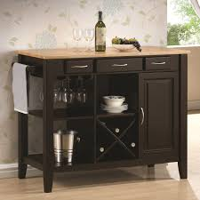 kitchen islands with wheels wooden butcher block kitchen island w wine stemware storage