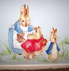 childrens painted wall murals cathie s murals childrens murals character beatrix potter peter rabbit family