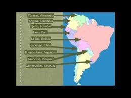 south america map rap speaking countries and capitals