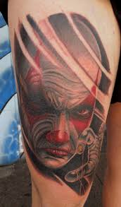 evil jester tattoo beautiful 3d picture design idea for men and women